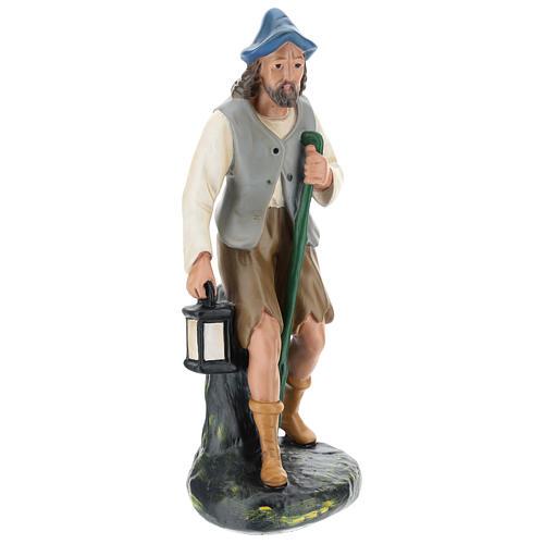 Pastor con linterna y bastón 30 cm Arte Barsanti 1