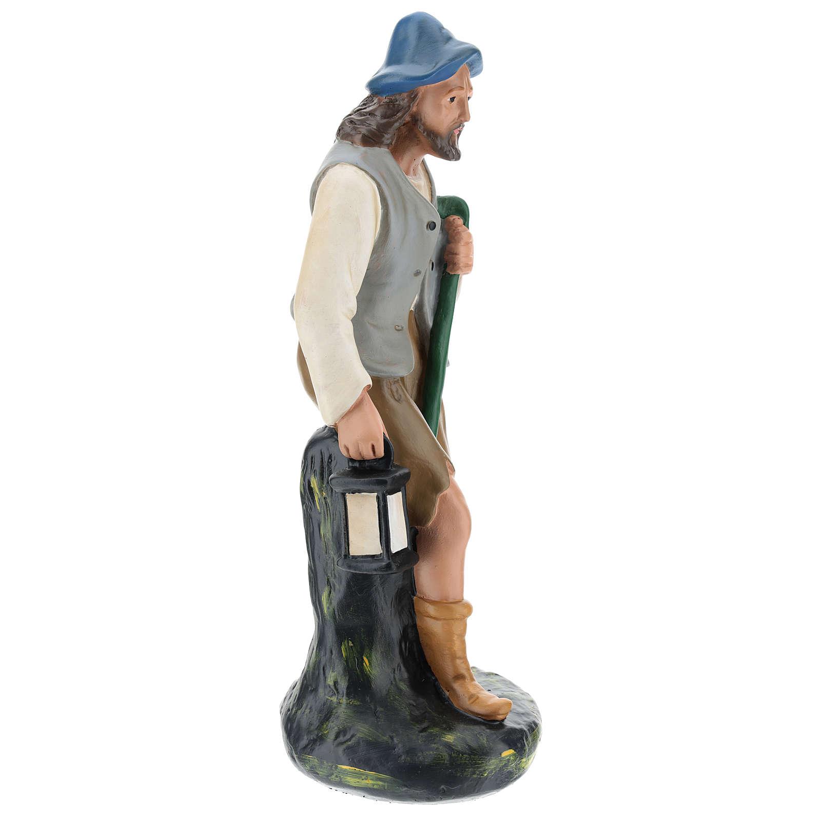 Berger avec lanterne et canne pour crèche Arte Barsanti 30 cm 4