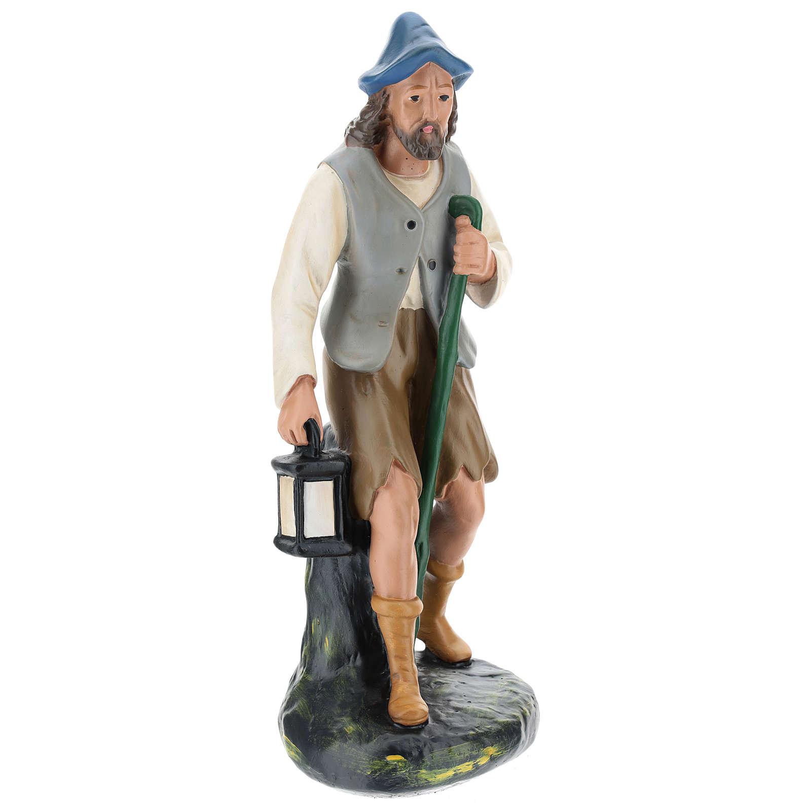 Pastore con lanterna e bastone 30 cm Arte Barsanti 4