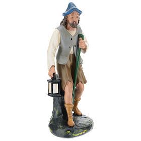 Pastore con lanterna e bastone 30 cm Arte Barsanti s1