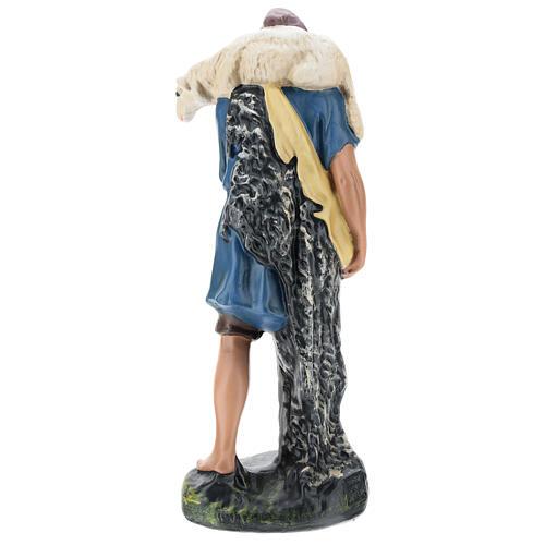 Shepherd with sheep on his shoulders in plaster for Arte Barsanti Nativity Scene 30 cm 5