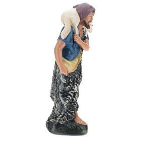 Estatua pastor con oveja sobre las espaldas 30 cm Arte Barsanti s4