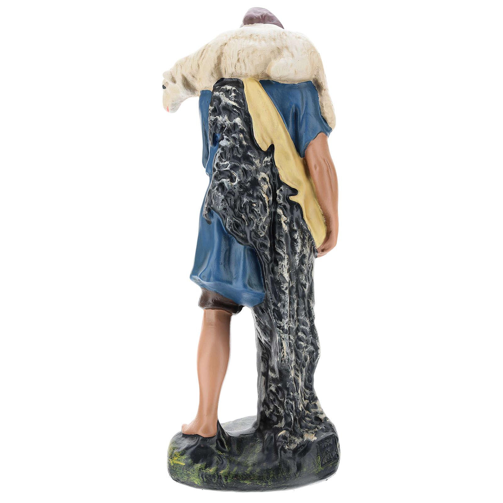 Berger avec mouton sur les épaules pour crèche Arte Barsanti 30 cm 4