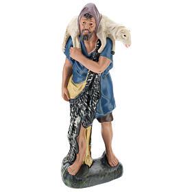 Berger avec mouton sur les épaules pour crèche Arte Barsanti 30 cm s1