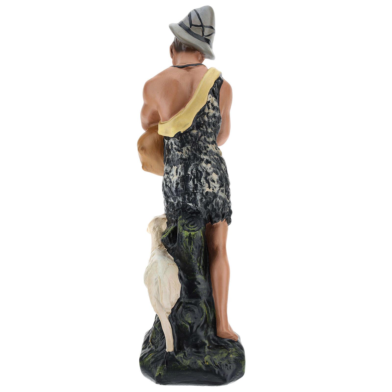 Bagpiper with sheep in plaster for Arte Barsanti Nativity Scene 30 cm 4