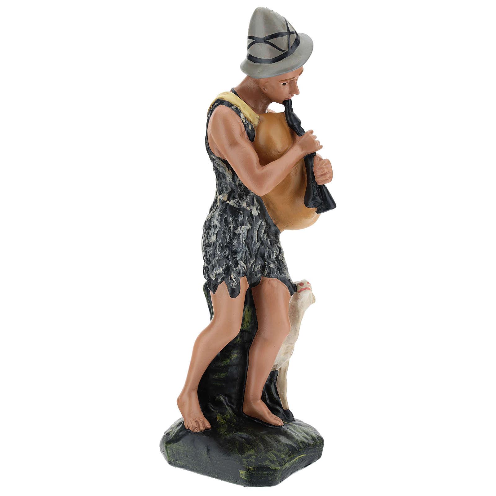 Joueur de cornemuse avec mouton pour crèche Arte Barsanti 30 cm 4