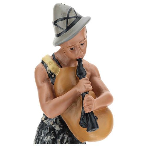 Joueur de cornemuse avec mouton pour crèche Arte Barsanti 30 cm 2
