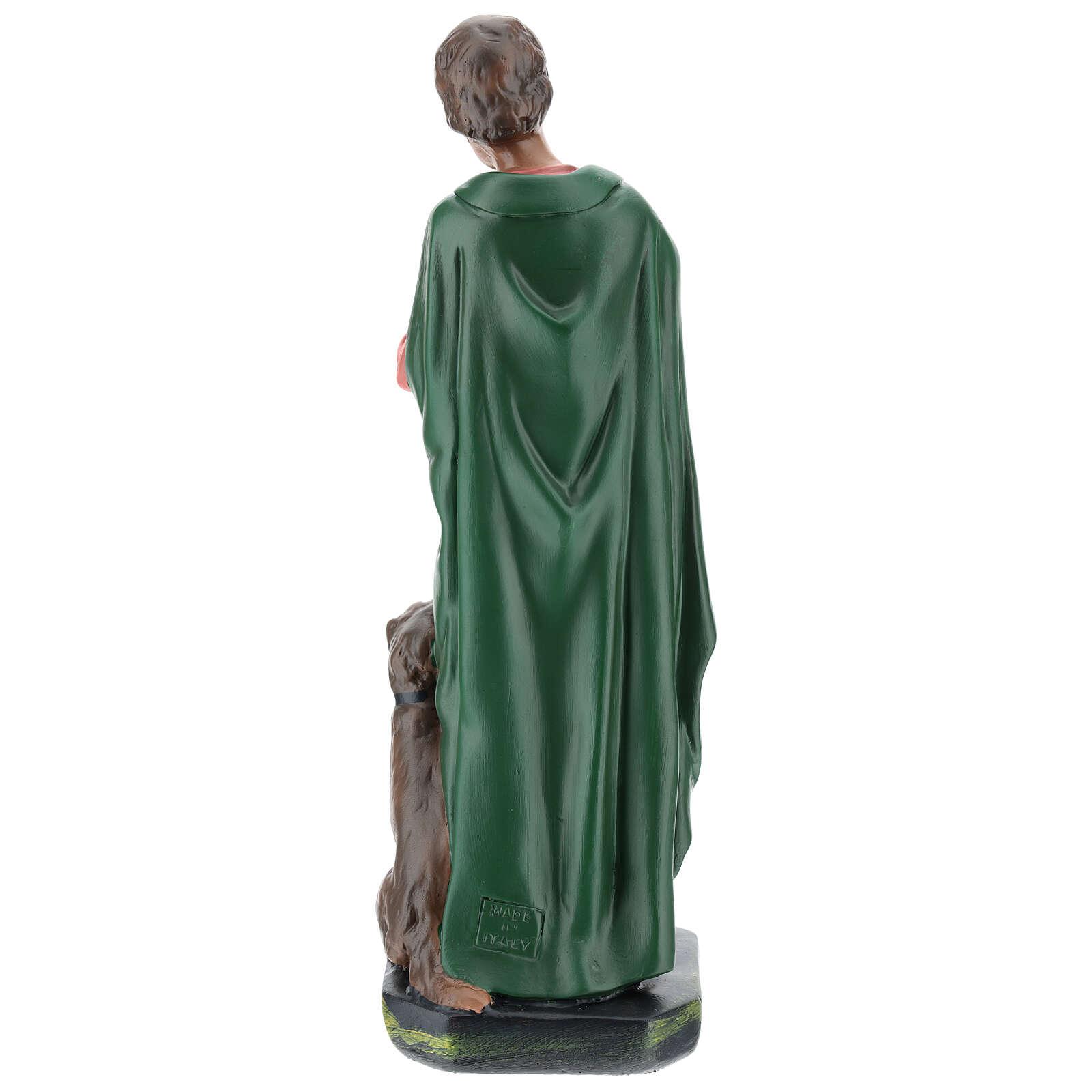 Bagpiper with dog in plaster for Arte Barsanti Nativity Scene 30 cm 4