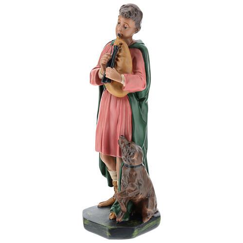 Bagpiper with dog in plaster for Arte Barsanti Nativity Scene 30 cm 3
