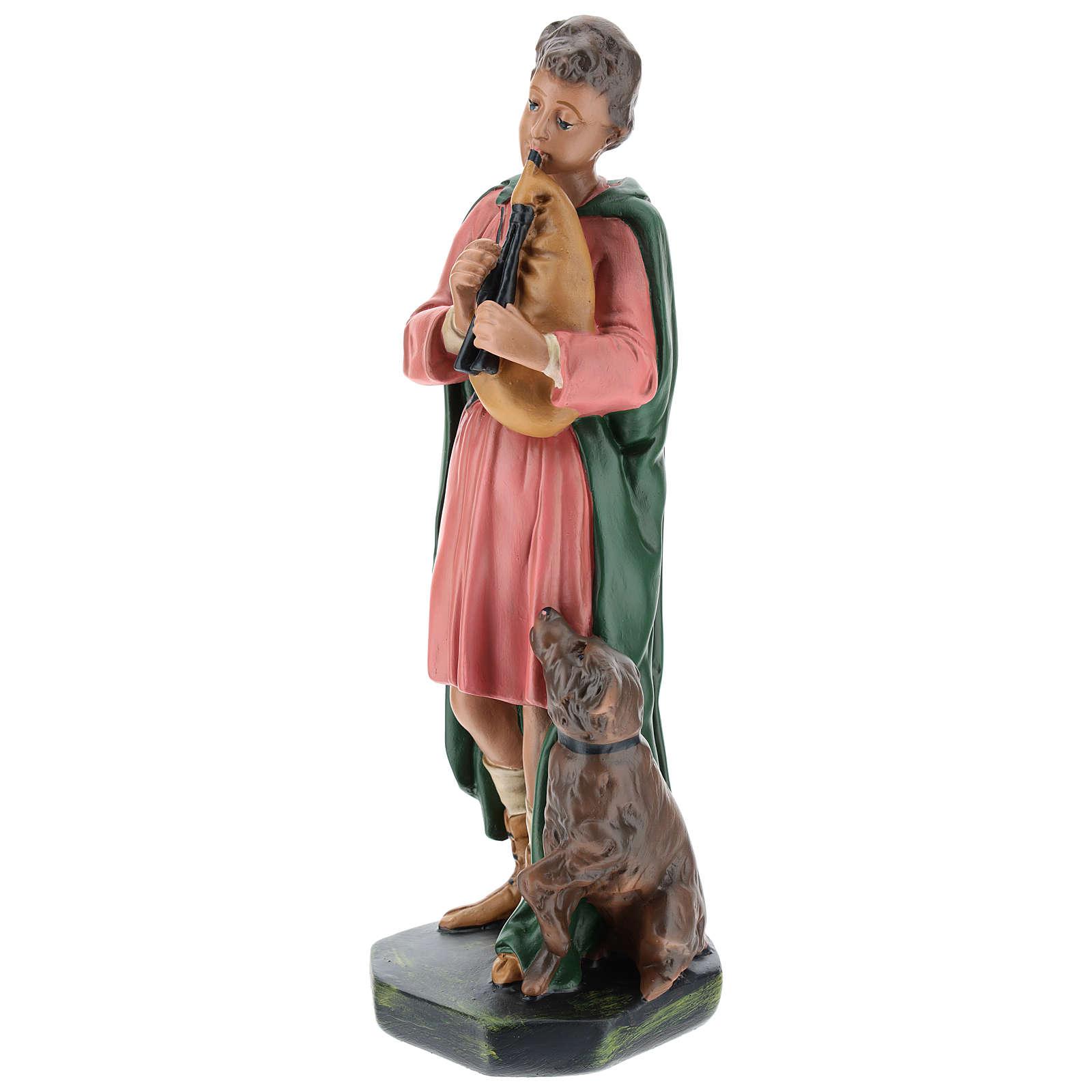 Estatua gaitero con perro yeso 30 cm Arte Barsanti 4