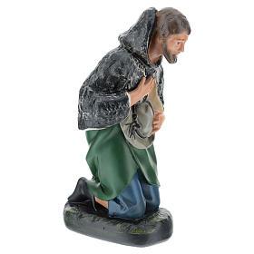 Estatua pastor con sombrero de rodillas belén Arte Barsanti 30 cm s4
