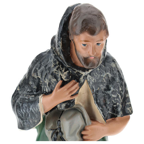 Estatua pastor con sombrero de rodillas belén Arte Barsanti 30 cm 2
