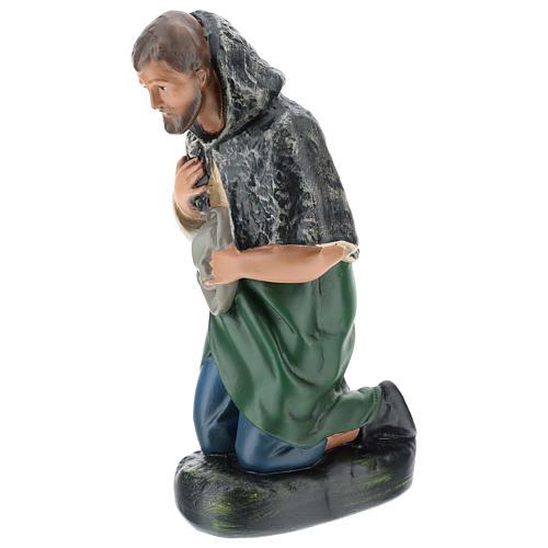 Estatua pastor con sombrero de rodillas belén Arte Barsanti 30 cm 3