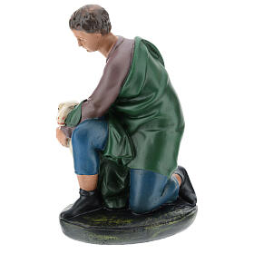 Kneeling shepherd with sheep in plaster for Arte Barsanti Nativity Scene 30 cm s3