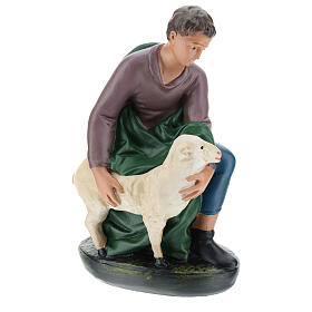 Kneeling shepherd with sheep in plaster for Arte Barsanti Nativity Scene 30 cm s4