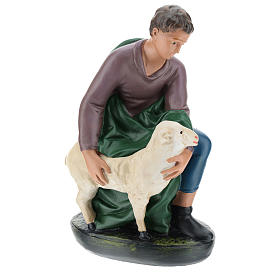 Berger agenouillé avec mouton plâtre 30 cm Arte Barsanti s4