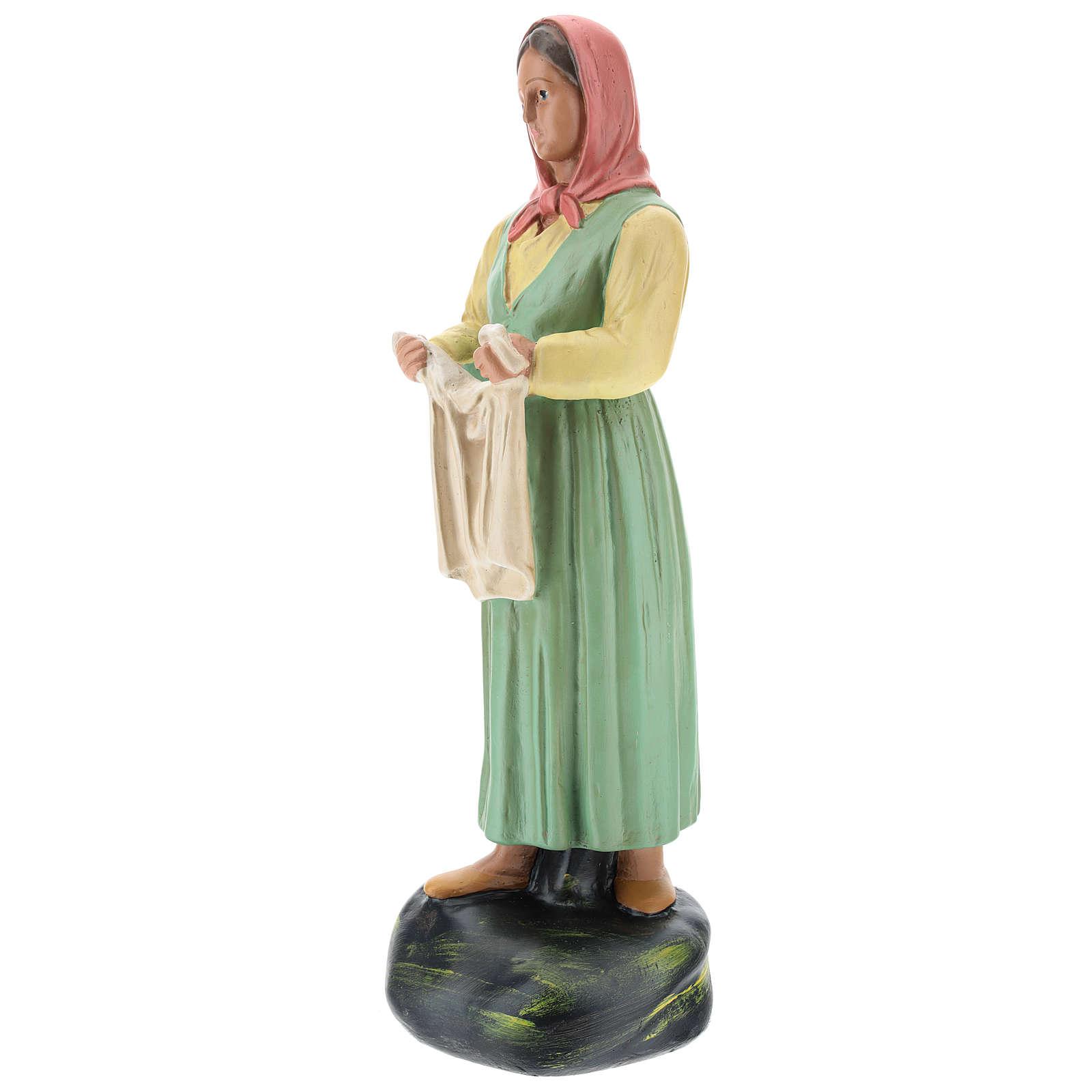 Estatua lavandera con velo yeso coloreado 30 cm Arte Basranti 4