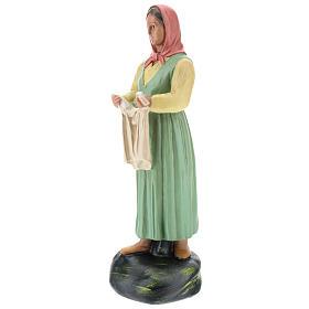 Estatua lavandera con velo yeso coloreado 30 cm Arte Basranti s3