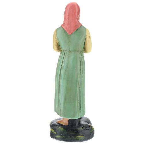 Estatua lavandera con velo yeso coloreado 30 cm Arte Basranti 5