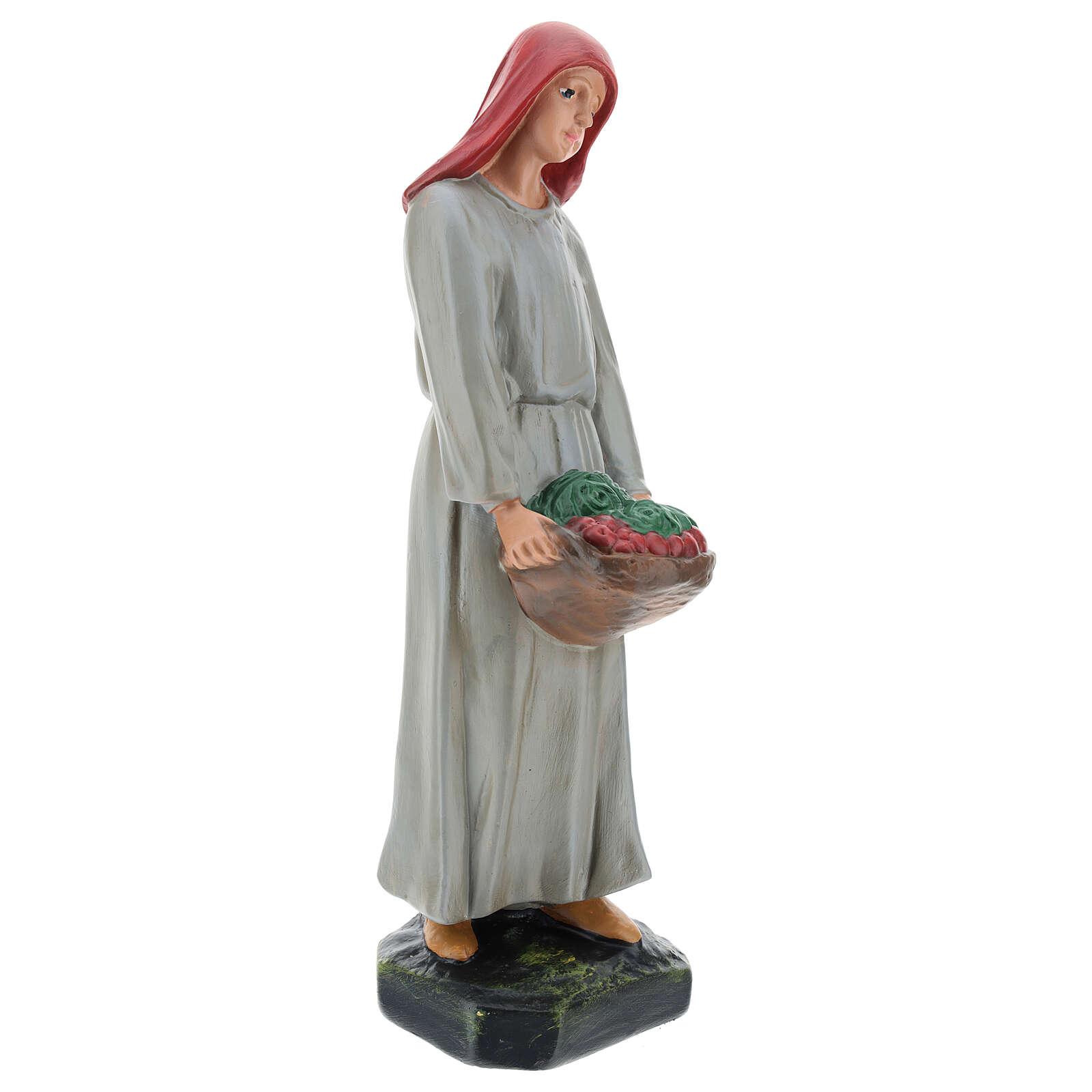 Farmer with vegetable basket in plaster for Arte Barsanti Nativity Scene 30 cm 4