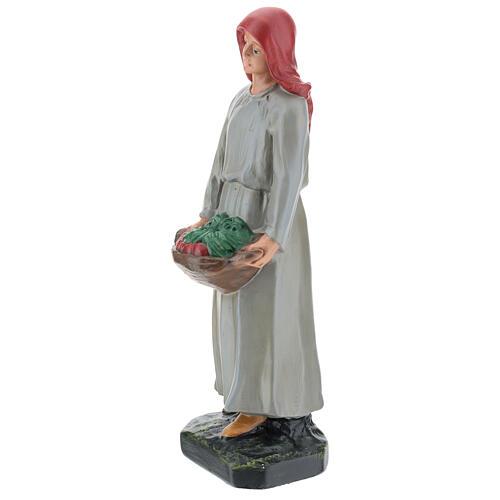 Farmer with vegetable basket in plaster for Arte Barsanti Nativity Scene 30 cm 3