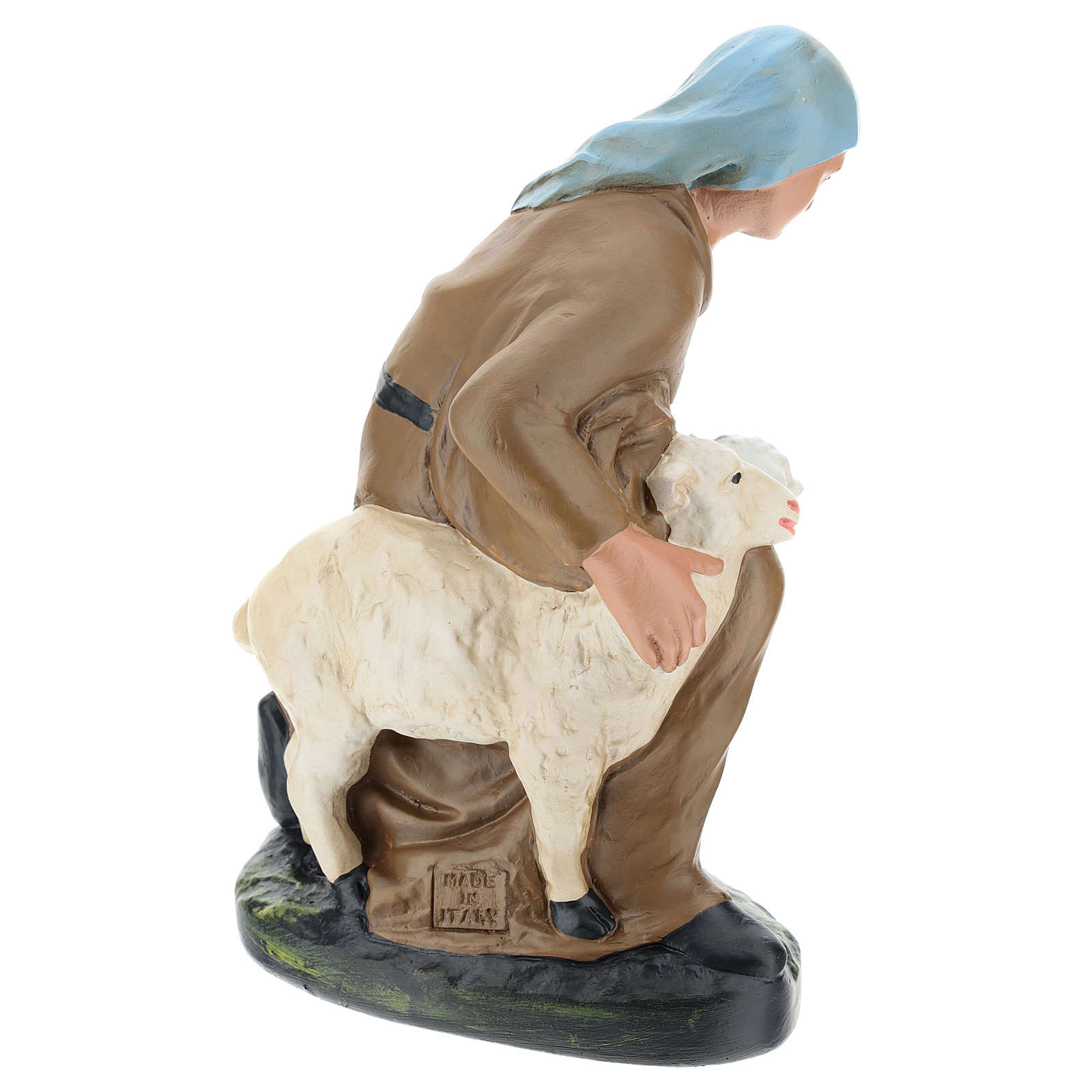 Statua pastorella con pecore gesso per presepe 30 cm Arte Barsanti 4