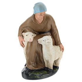 Statua pastorella con pecore gesso per presepe 30 cm Arte Barsanti s3