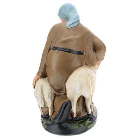 Statua pastorella con pecore gesso per presepe 30 cm Arte Barsanti s5