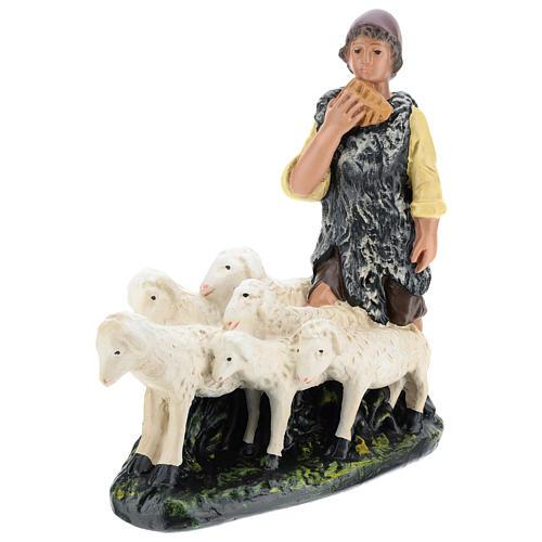 Pastor con rebaño de yeso belén 30 cm Arte Barsanti 3
