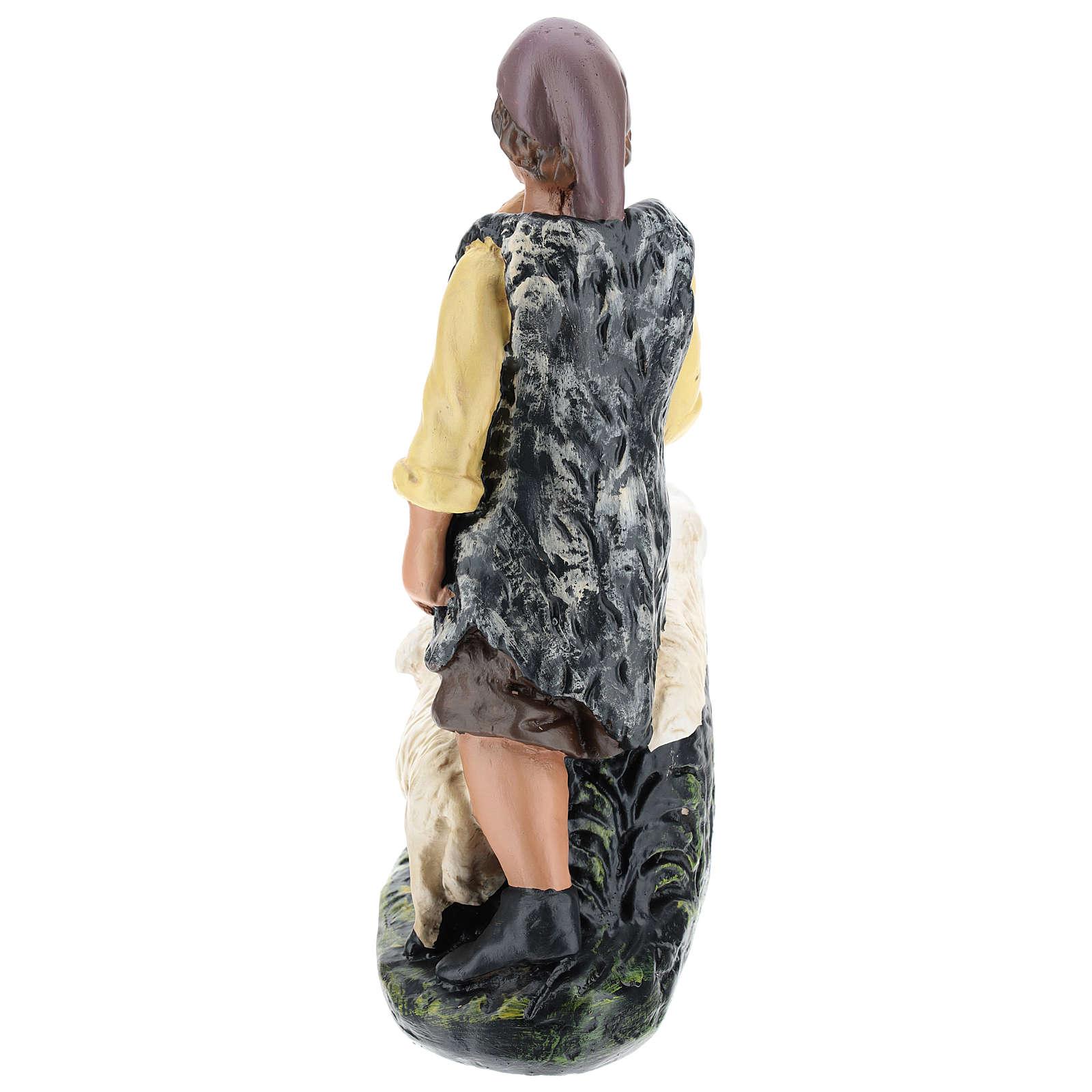 Pastore con gregge in gesso presepe 30 cm Arte Barsanti 4