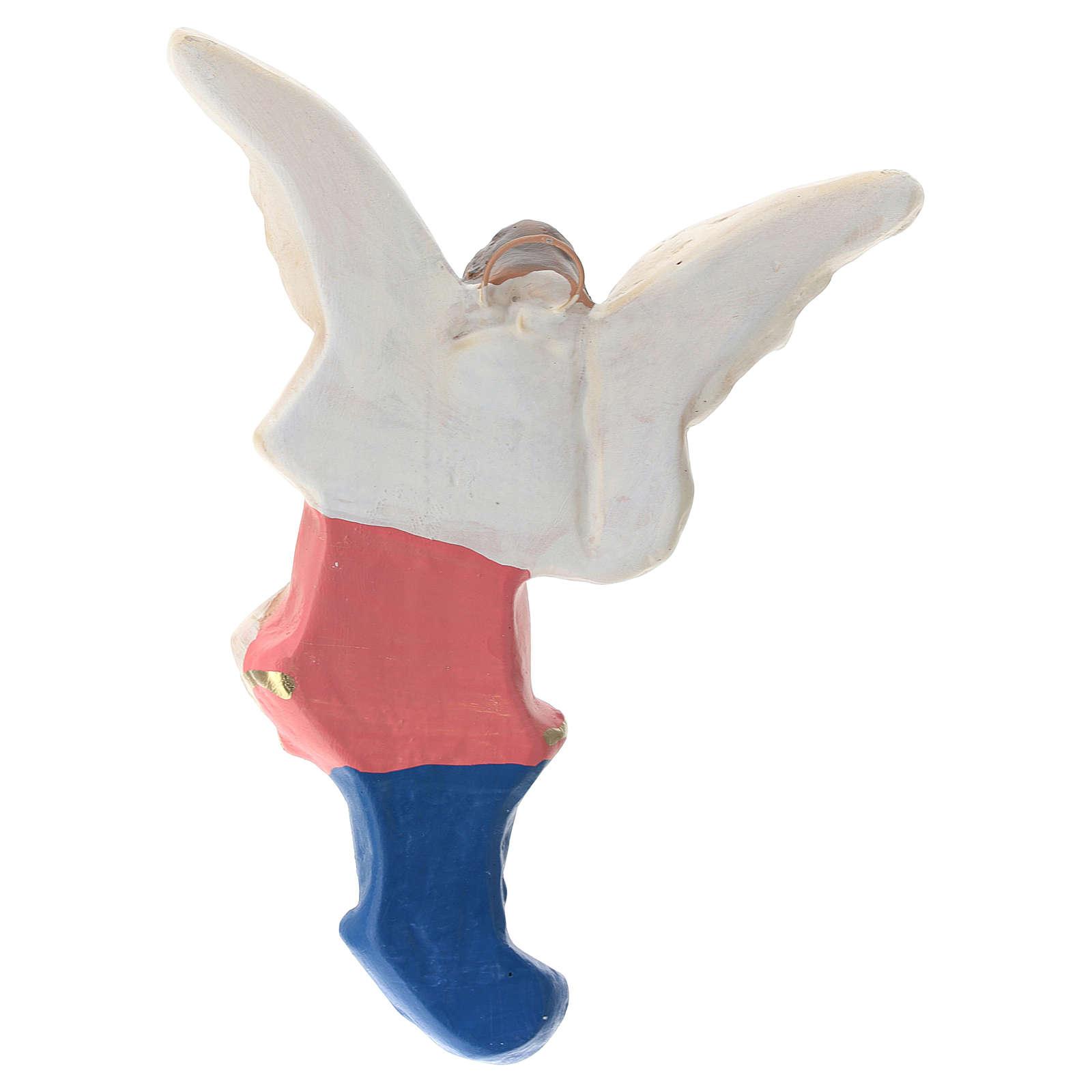 Estatua Ángel yeso coloreado para belén 30 cm Arte Barsanti 4