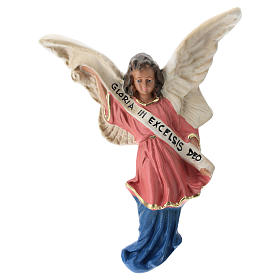 Estatua Ángel yeso coloreado para belén 30 cm Arte Barsanti s1
