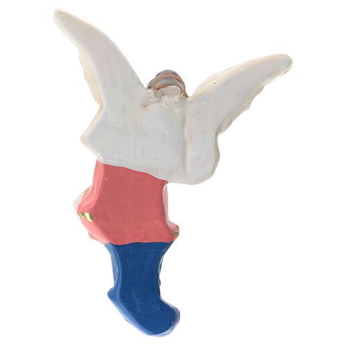 Estatua Ángel yeso coloreado para belén 30 cm Arte Barsanti 2