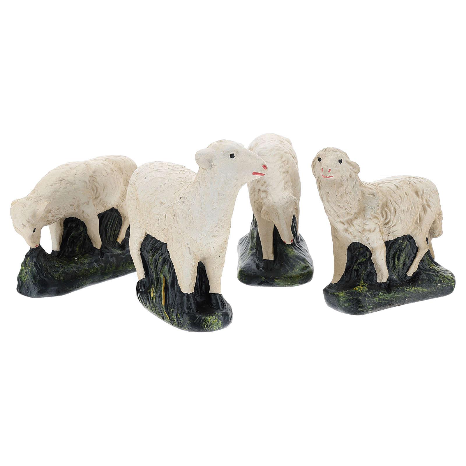 Set Arte Barsanti 4 ovejas para belén 30 cm 4