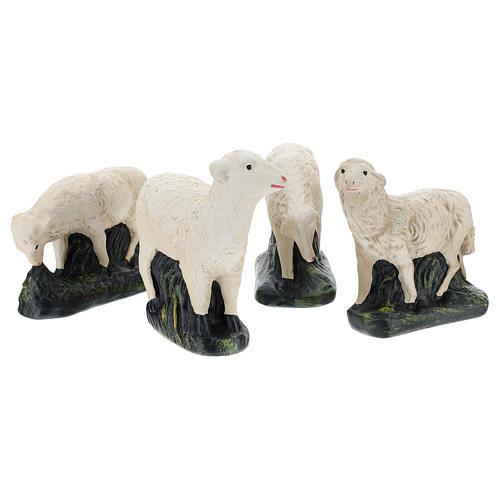 Set Arte Barsanti 4 ovejas para belén 30 cm 1