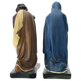 Tríada Arte Barsanti estatuas Natividad yeso pintado a mano 40 cm s5