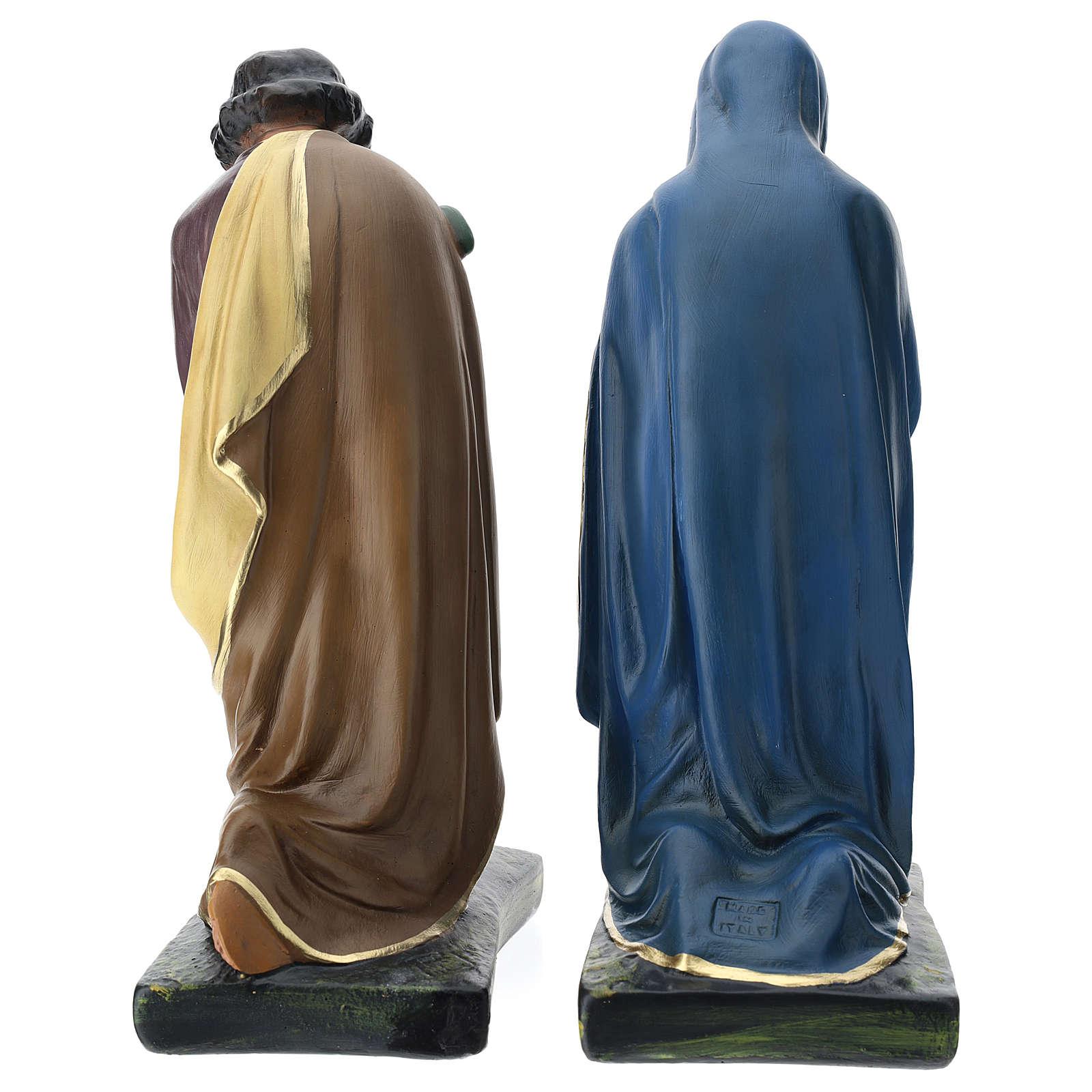 Natividade três figuras Arte Barsanti gesso pintado à mão para presépio altura média 40 cm 4