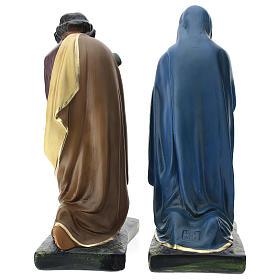 Natividade três figuras Arte Barsanti gesso pintado à mão para presépio altura média 40 cm s5