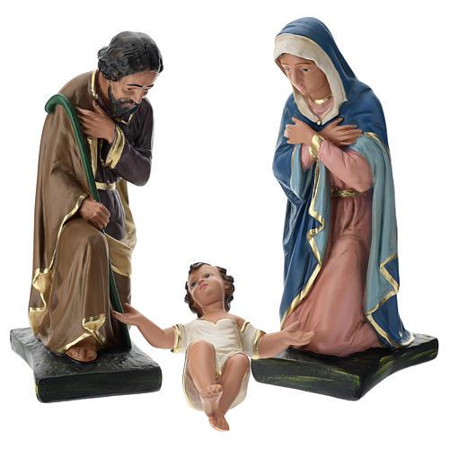 Natividade três figuras Arte Barsanti gesso pintado à mão para presépio altura média 40 cm 1