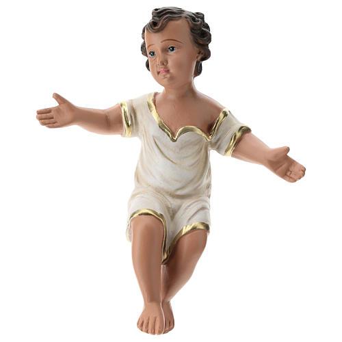Natividade três figuras Arte Barsanti gesso pintado à mão para presépio altura média 40 cm 2