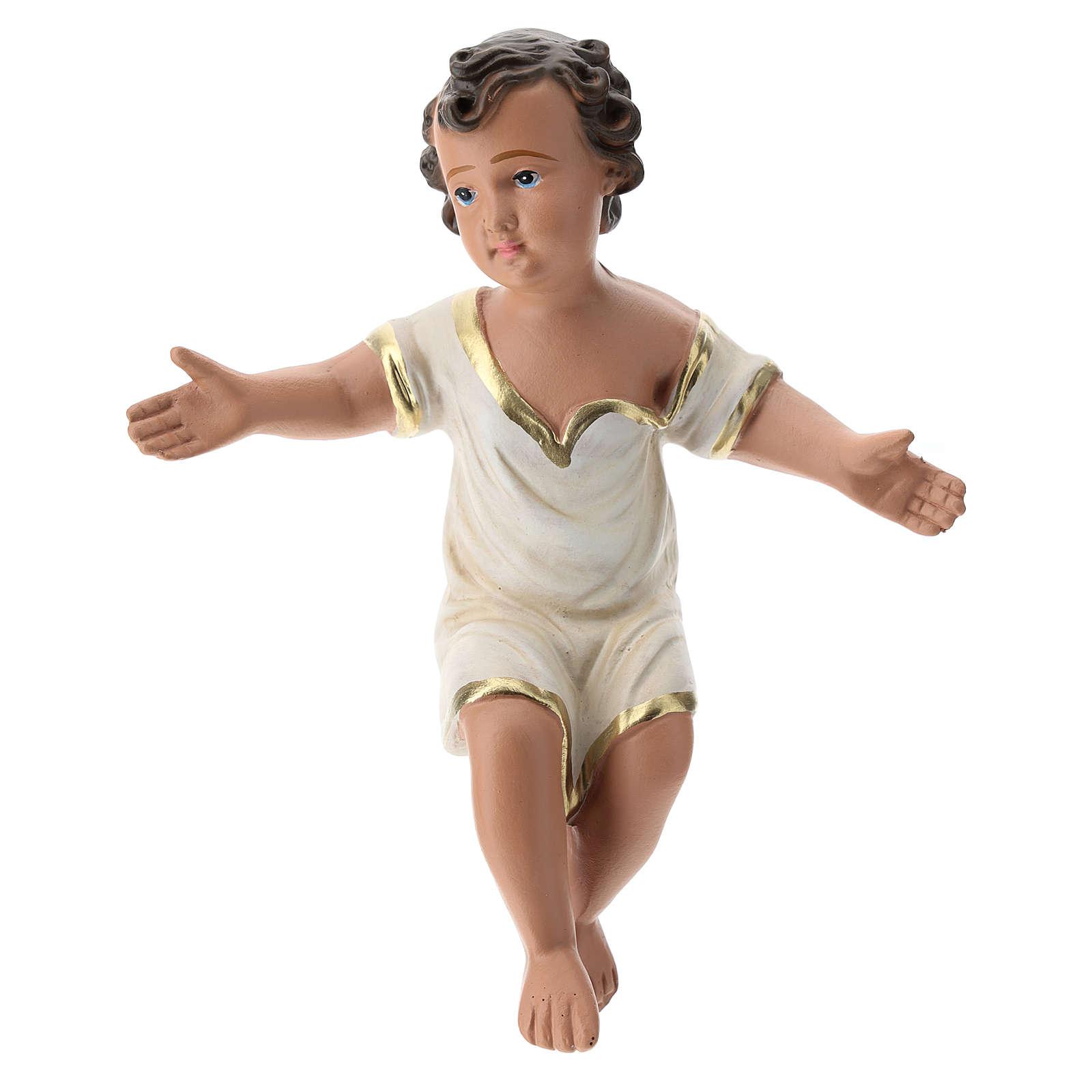Enfant Jésus plâtre coloré pour crèche 40 cm Arte Barsanti 4
