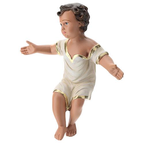 Enfant Jésus plâtre coloré pour crèche 40 cm Arte Barsanti 3