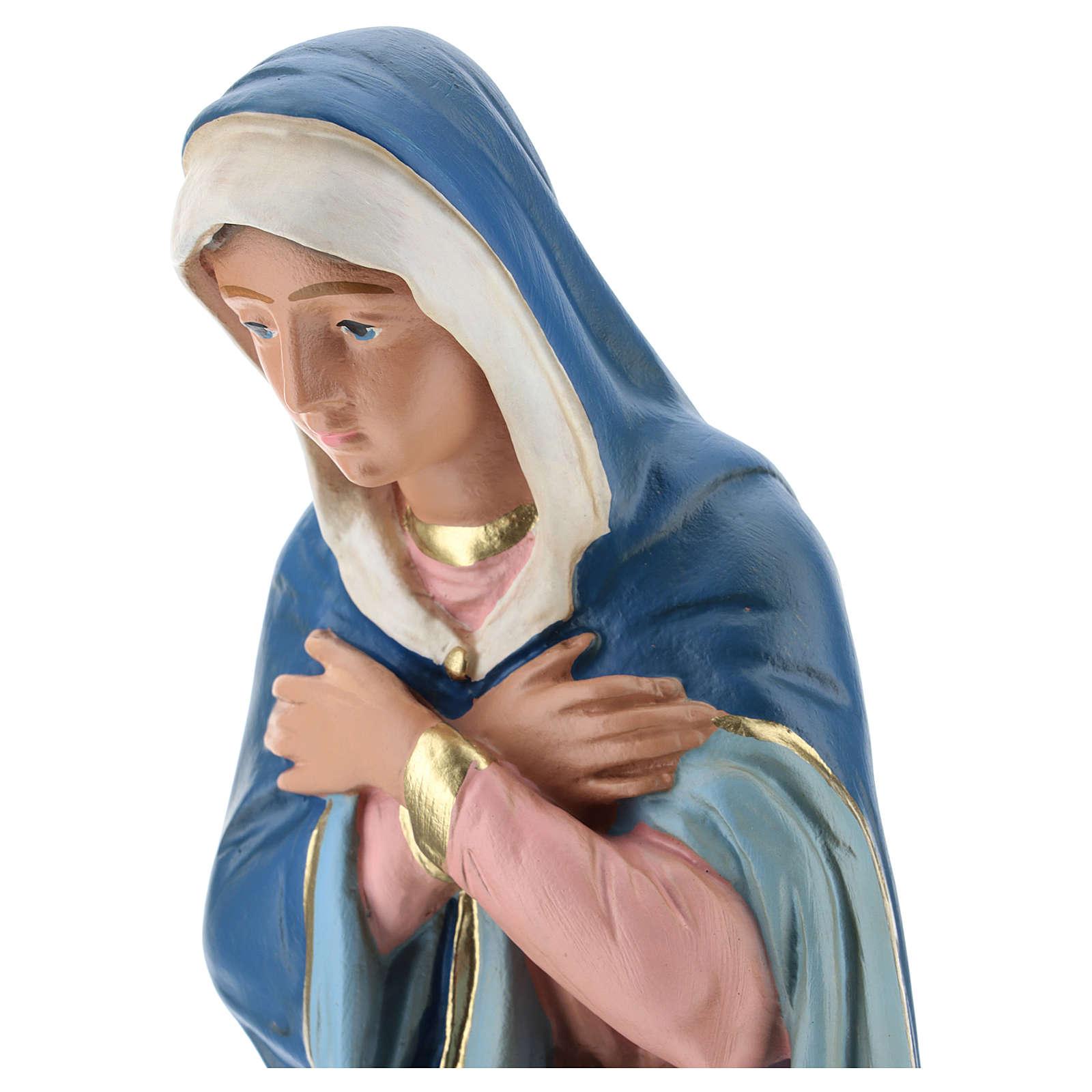 Virgen para belén 40 cm yeso coloreado Arte Barsanti 4