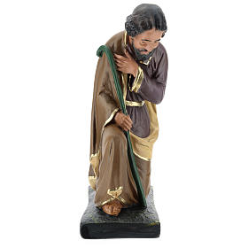 Saint Joseph plâtre coloré pour crèche 40 cm Arte Barsanti s1