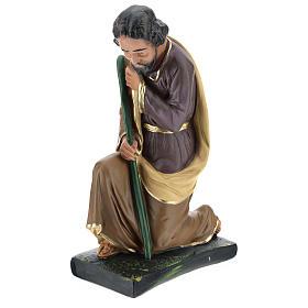 Saint Joseph plâtre coloré pour crèche 40 cm Arte Barsanti s3