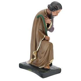 Saint Joseph plâtre coloré pour crèche 40 cm Arte Barsanti s4
