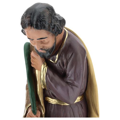 Saint Joseph plâtre coloré pour crèche 40 cm Arte Barsanti 2