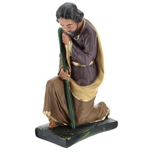 Saint Joseph plâtre coloré pour crèche 40 cm Arte Barsanti 3