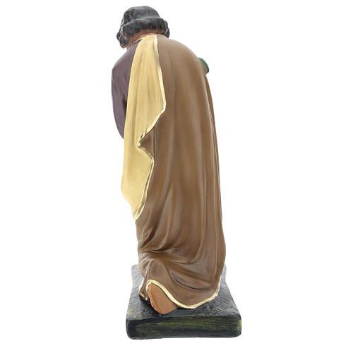 Saint Joseph plâtre coloré pour crèche 40 cm Arte Barsanti 6