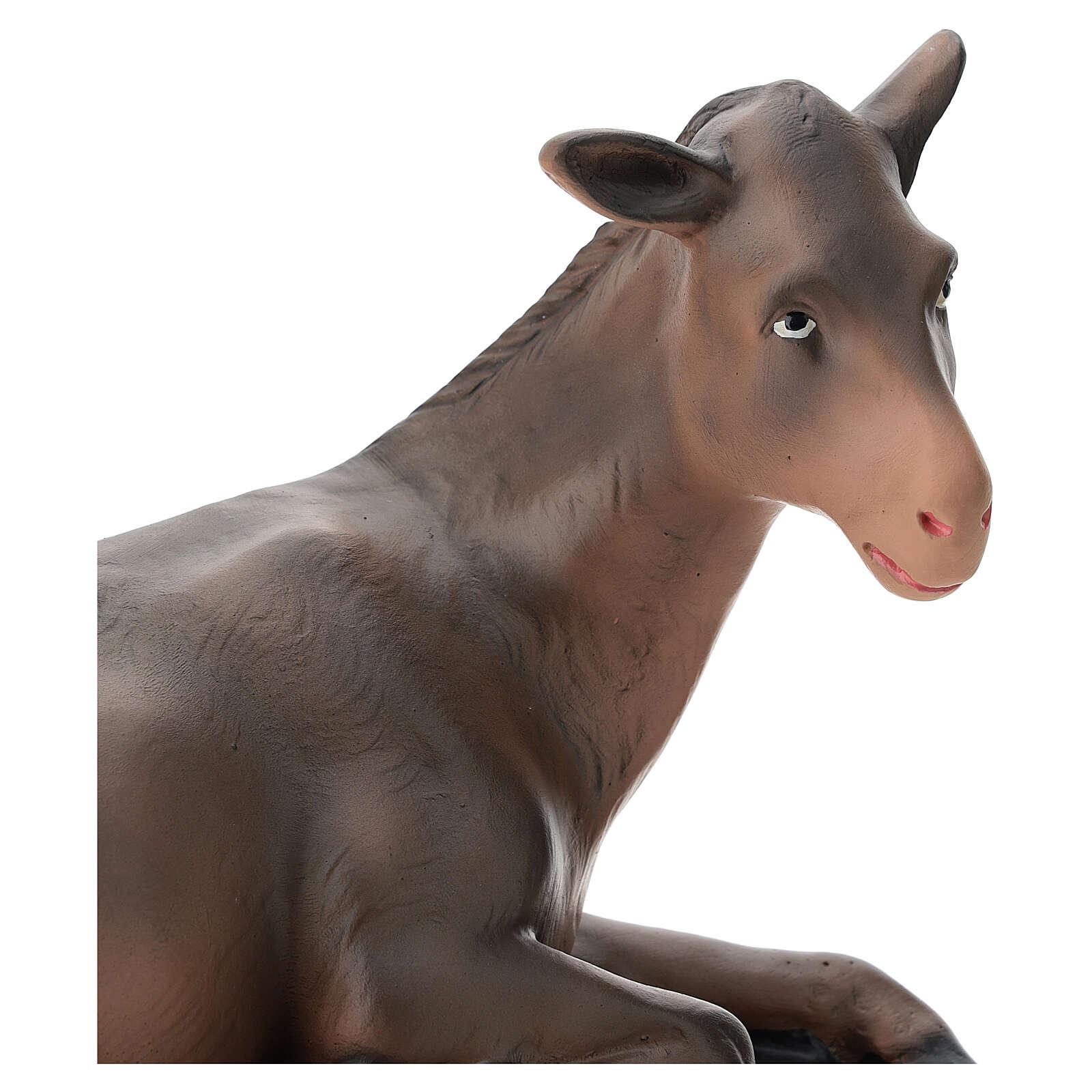 Donkey in plaster for Arte Barsanti Nativity Scene 40 cm 4
